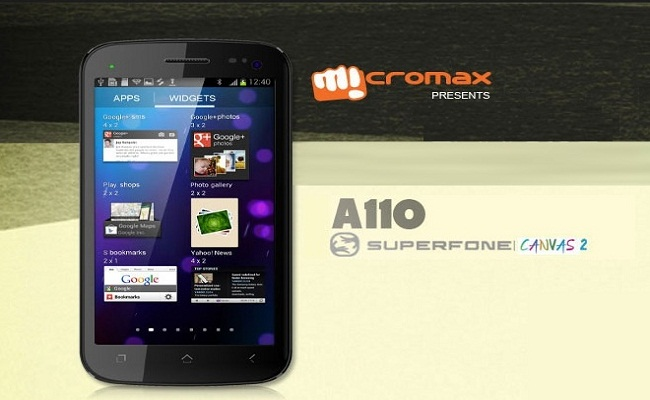 Micromax A110 Review | Specification & Price in India