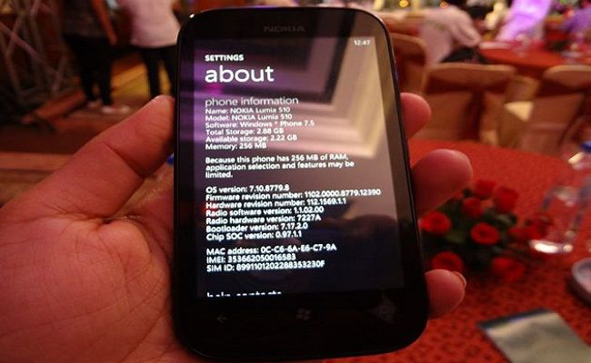 Nokia Lumia 510 Review, Specifications & Price in India