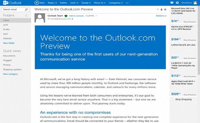 Outlook Takes Over Hotmail Is No More