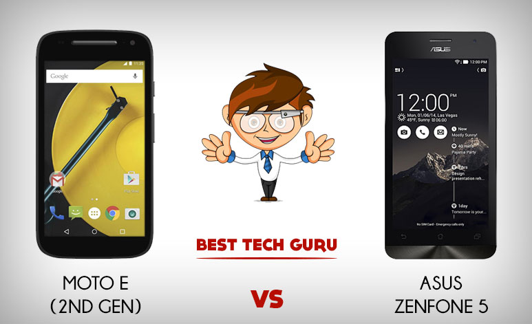 Moto E (2nd Gen) VS Asus Zenfone 5: Which is the Best?