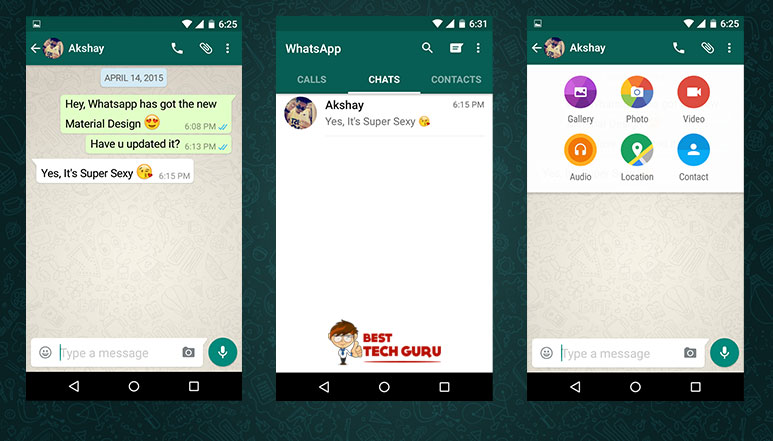 WhatsApp get's all new Material Design; yet to hit Play Store - Download the APK