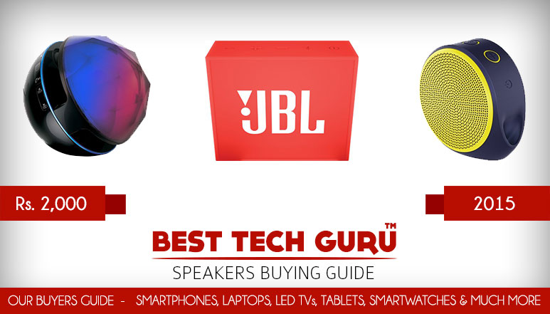 5 Best Portable Speakers under 2000 Rs in India (2015)