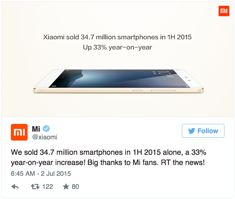 Xiaomi-sold-34.7-million-smartphones 2