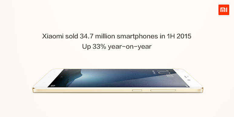 Xiaomi Sold 34.7 Million Phones in First Half of 2015, a 33% Increase