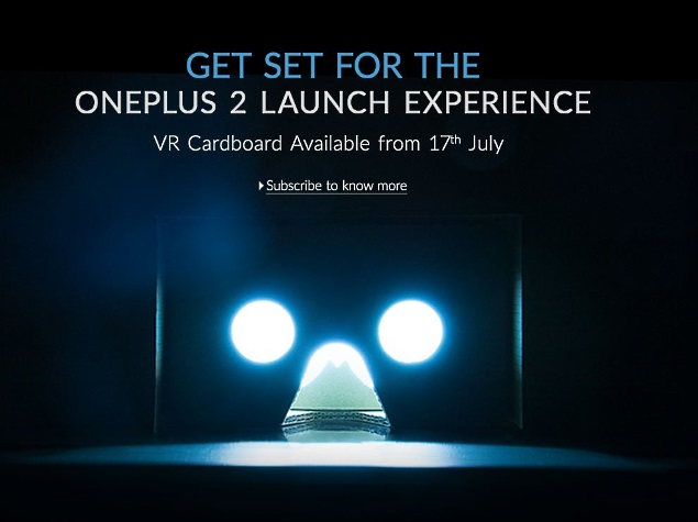 OnePlus Cardboard VR Headset to go on Sale on July 17 at Rs. 99