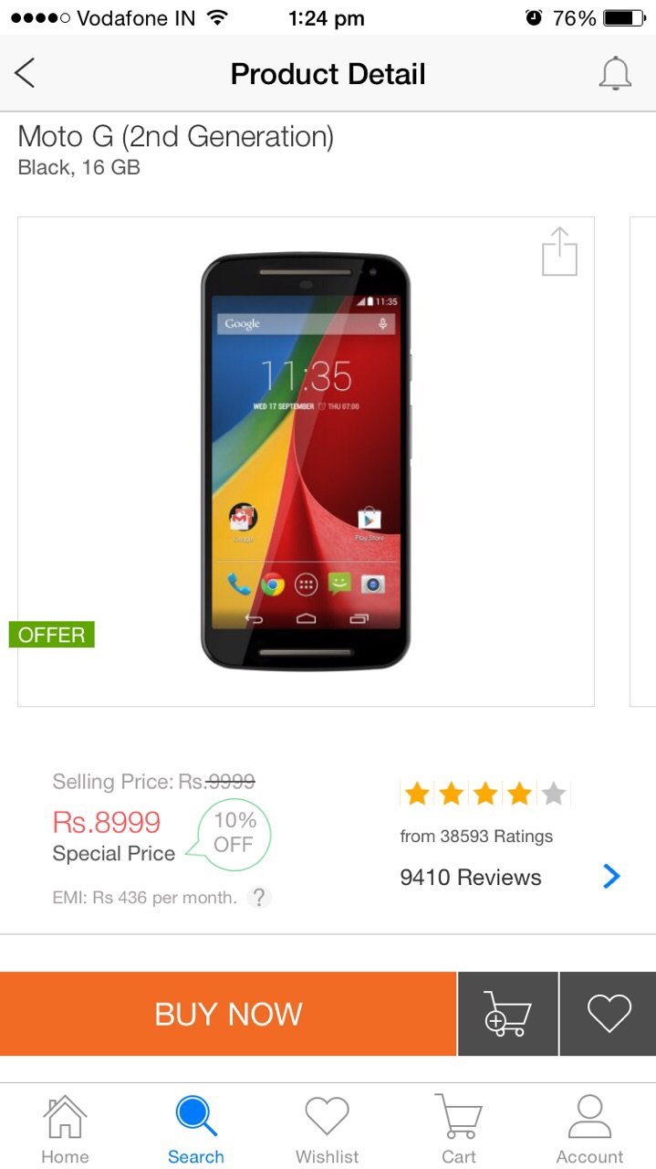 Moto G 2nd Gen Price Cut