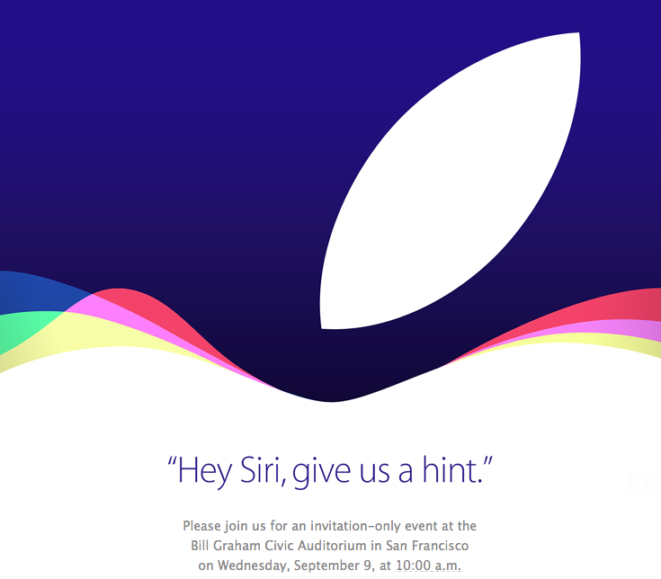 Apple Sept 9 Media Invite