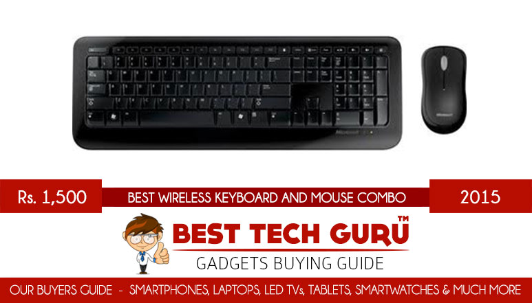 5 Best Wireless Keyboard and Mouse Combo under 1500 Rs in India (2015)