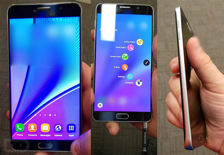 Samsung Galaxy Note 5 New Images Leaked, Official Launch on 13th Aug