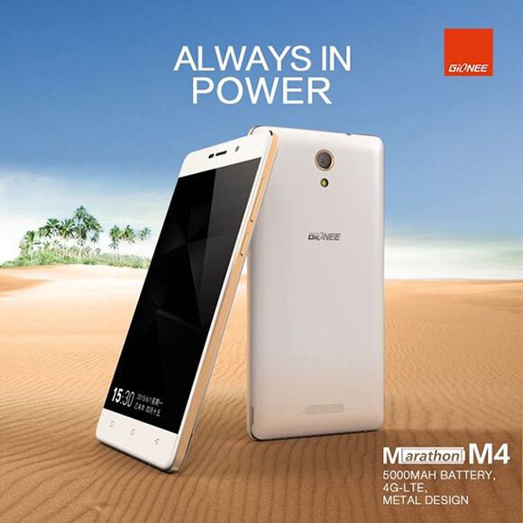 Gionee Marathon M4 with 5,000 mAh Battery launched at Rs 15,499
