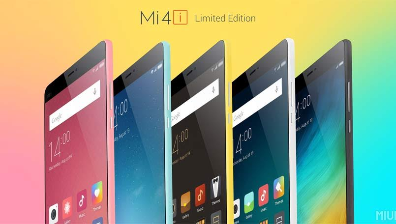 Xiaomi Mi4i Limited Edition in Pink, Blue & Yellow colors to go sale on 25 August
