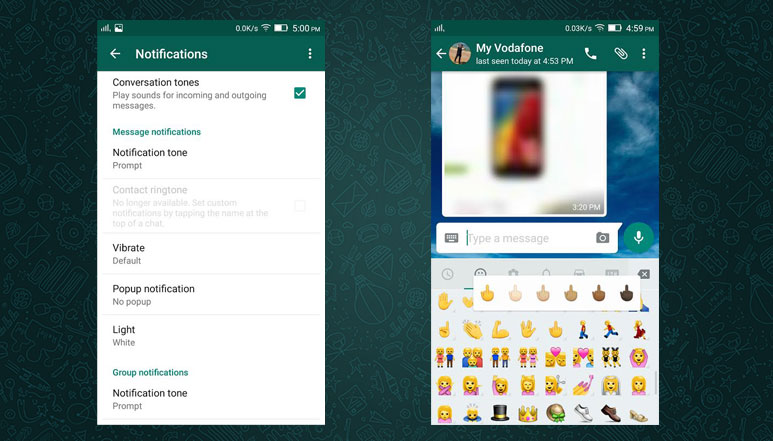 Whatsapp for Android updated with Custom Notifications, Mark as Unread & New Emojis