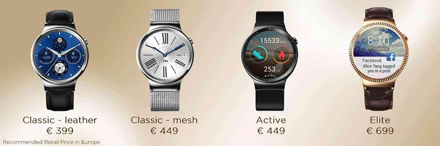 Huawei Watch Europe Pricing