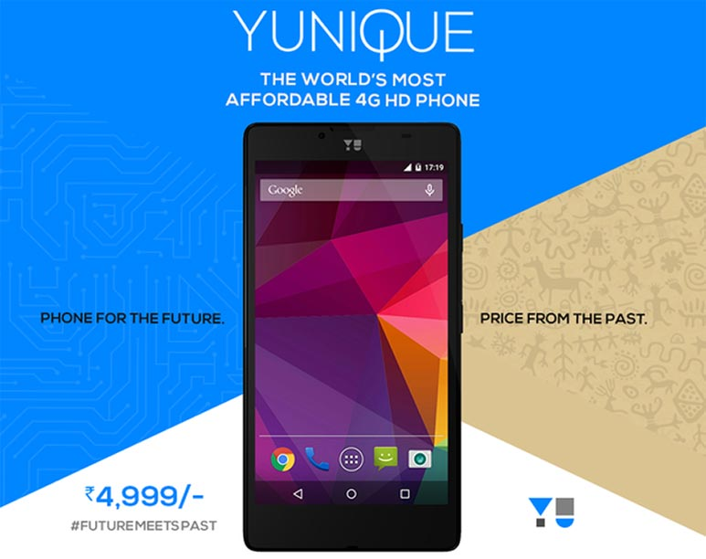 Yu Yunique with 4.7 inch HD display, Quad Core Snapdragon 410,1 GB RAM & 4G launched at Rs 4,999