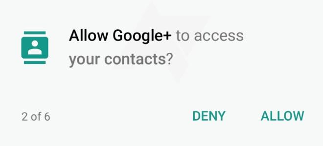 Android 6.0 App Permissions