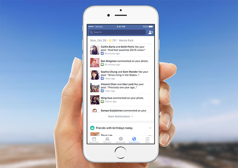 Facebook adds new Notifications Tab for iOS & Android; includes Google Now like cards
