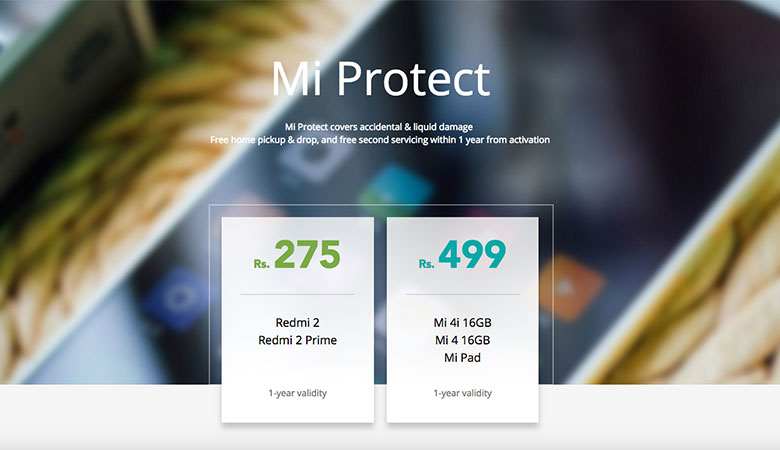 Xiaomi launches 'Mi Protect' mobile insuarance in India starting at Rs. 275