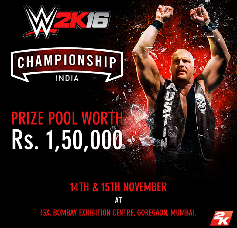 WWE 2K16 tournament to be held at Indian Games Expo on 14th & 15th Nov