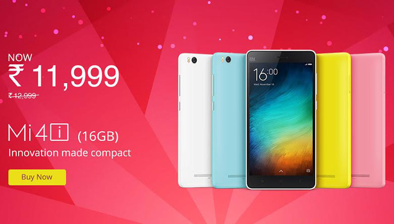 Xiaomi Mi 4i gets a Rs. 1,000 price cut; now available at Rs. 11,999