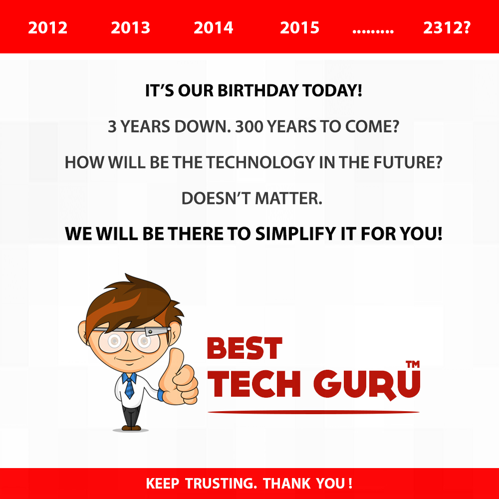 Best Tech Guru turns 3: Our Journey So Far