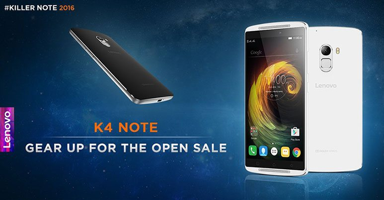 Lenovo K4 Note to go on open sale from Monday 15th Feb