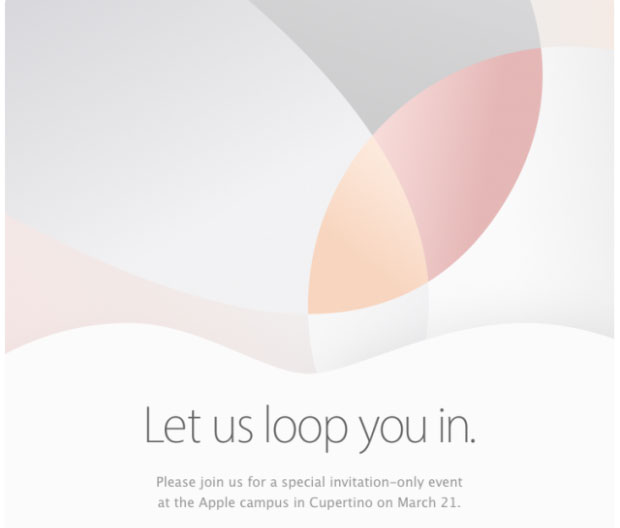 Apple confirms event on March 21; iPhone SE and 9.7-inch iPad Pro to debut