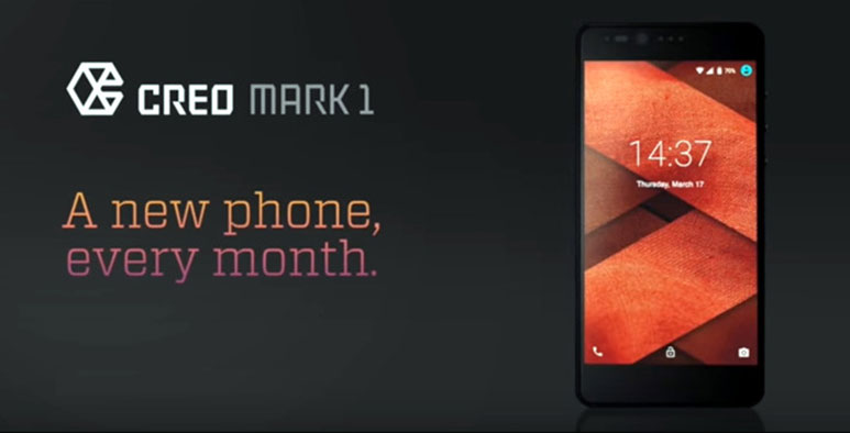CREO teases Mark 1 smartphone, Promises OS updates every month