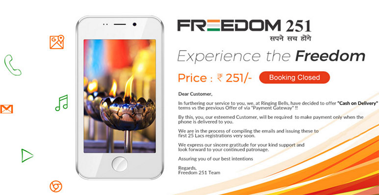 Freedom 251: Adcom sold the phone at Rs. 3,600 per unit to Ringing Bells; threatens legal actions