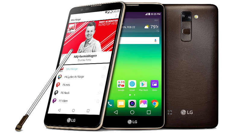 LG Stylus 2 with DAB+ for digital radio broadcasting announced