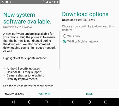 Moto X Play Android 6.0.1 update