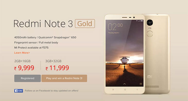 Xiaomi Redmi Note 3 second Flash Sale today at 2 PM; Tips to buy