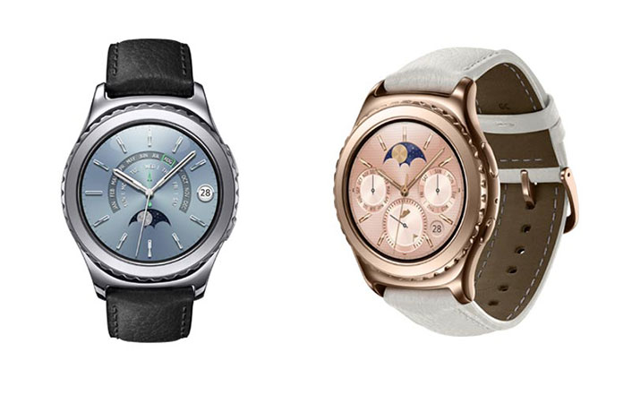 Samsung Gear S2 Classic White, Rose Gold, Platinum color variants launched in India