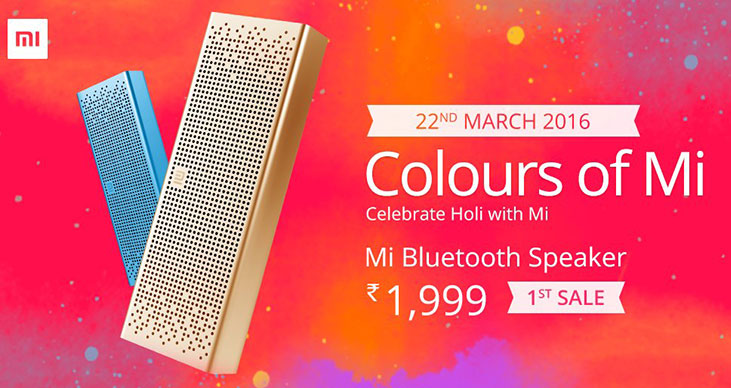 Xiaomi Mi Bluetooth speaker to go on sale on March 22 at Rs. 1,999