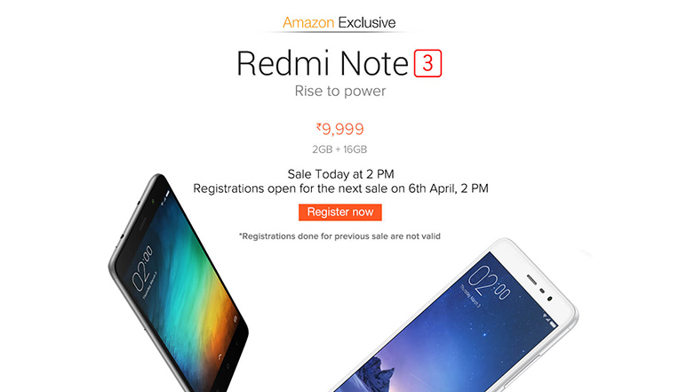 Redmi Note 3 flash sale
