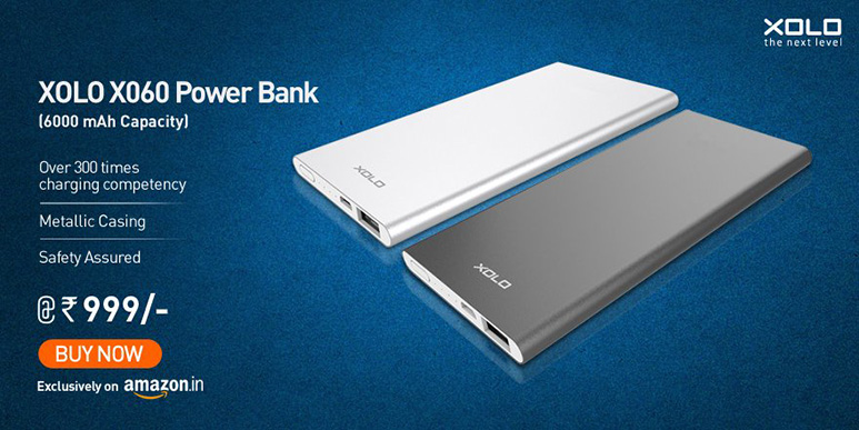 XOLO X060 powerbank with 6000mAh battery launched at Rs. 999
