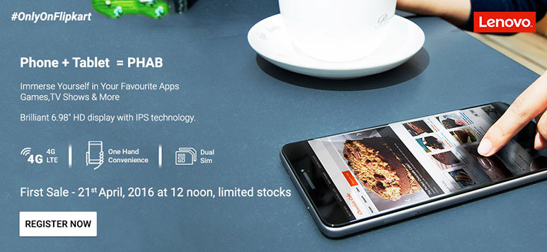 Lenovo PHAB to go on first Flash Sale today at 12 PM; Registrations open till 11 AM