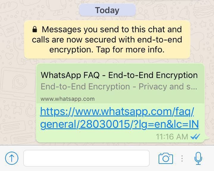 WhatsApp rolls out end-to-end encryption; now no one can read chats except sender & receiver