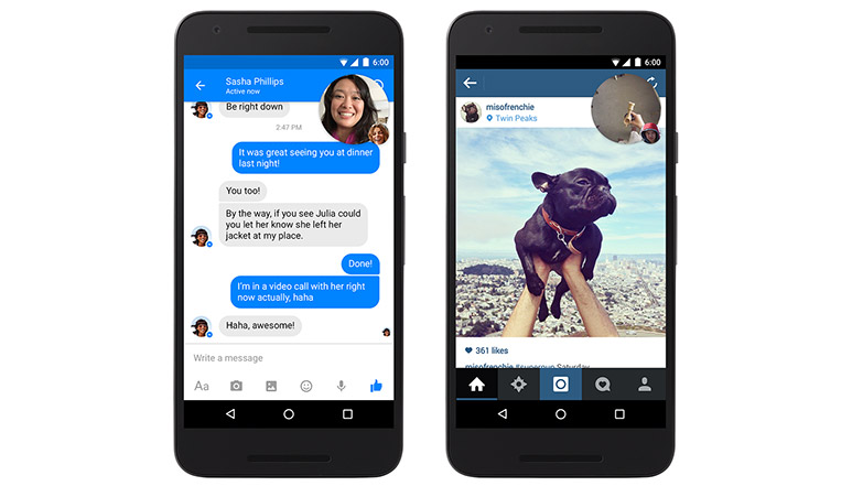 Facebook messenger update brings support for Video Chat and Dropbox