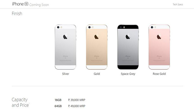 apple iphone se 64gb variant to cost rs 49 000 in india. Black Bedroom Furniture Sets. Home Design Ideas