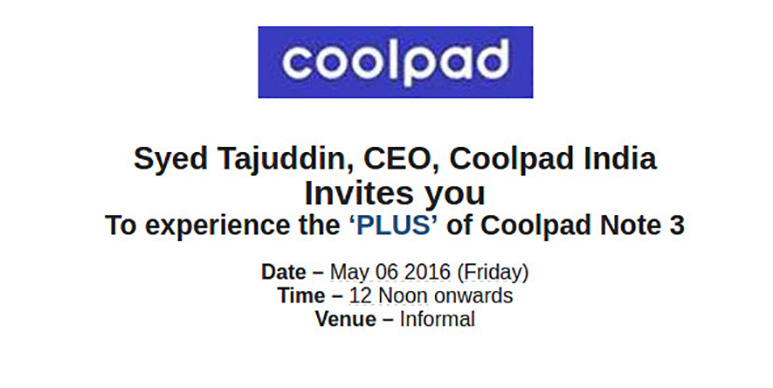 Coolpad to launch Note 3 Plus in India on Friday