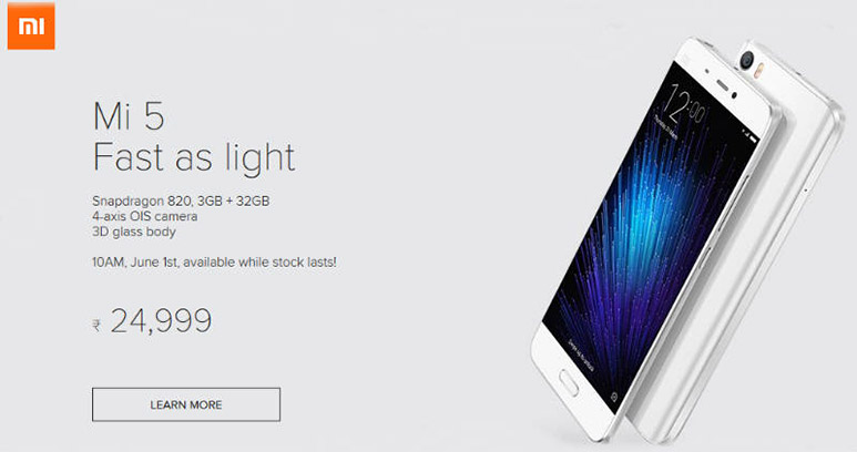 Xiaomi Mi 5, Redmi Note 3 goes on open sale from 1st June