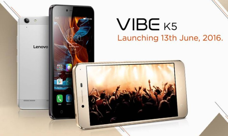 Lenovo to launch Vibe K5 on 13th June in India