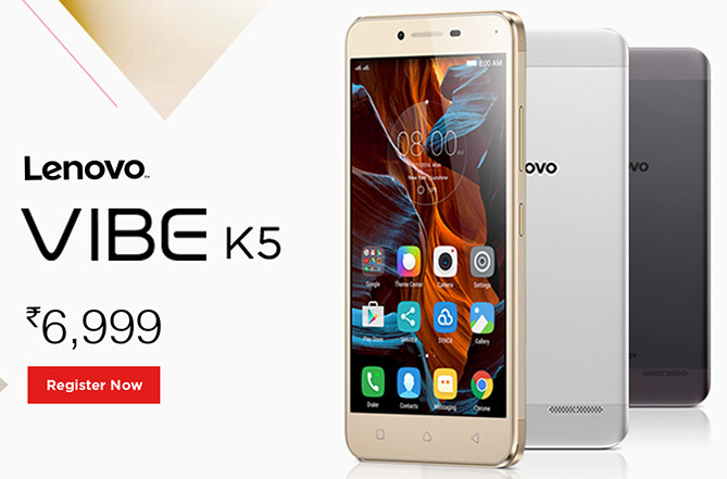 Lenovo Vibe K5 with 2GB RAM and 13MP rear camera launched at Rs. 6,999