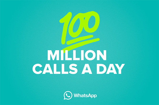 WhatsApp hits 100 million voice calls every day