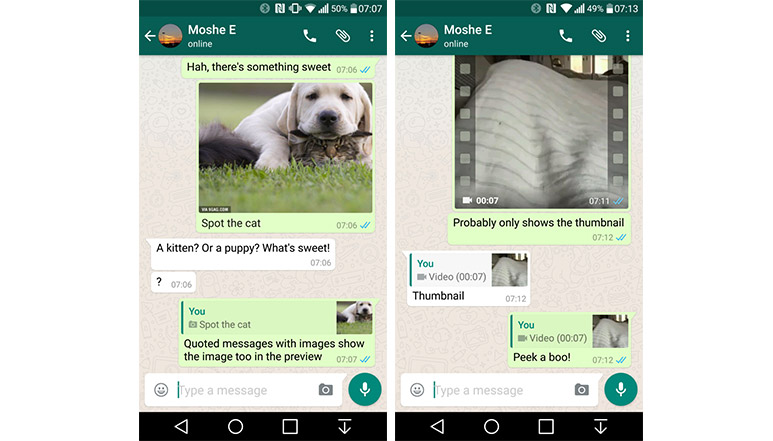 WhatsApp Beta adds Quote reply feature on Android