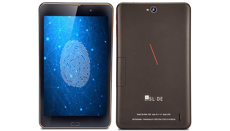 iBall Slide Bio-Mate with 8inch display and fingerprint sensor announced at Rs. 7,999