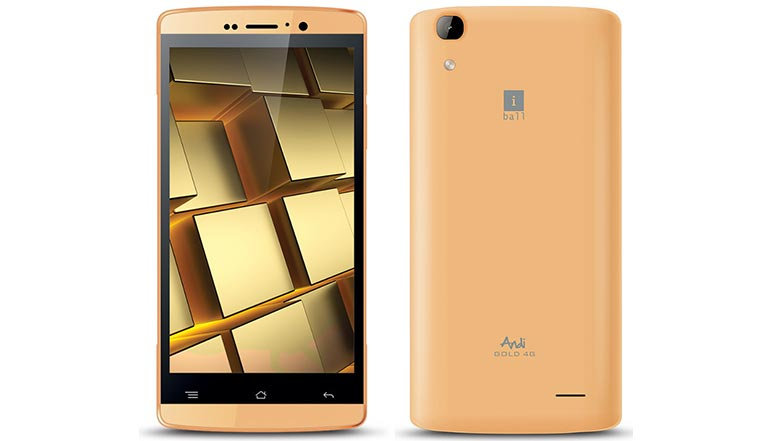 iBall Andi Gold 4G with 8MP rear camera and 4G VoLTE launched at Rs. 6,499
