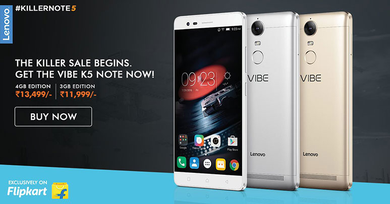 Lenovo reports Rs. 100 crore worth of Vibe K5 Note sold in first week