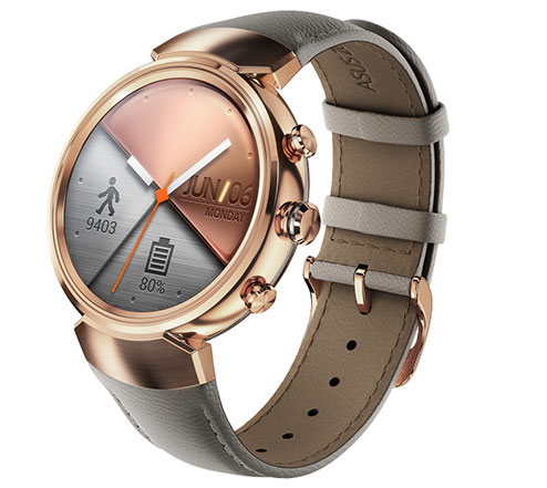 Asus ZenWatch 3 with circular display and Android Wear OS launched
