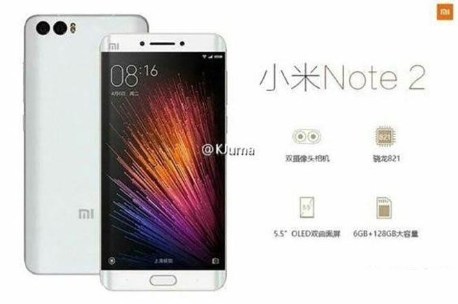 Xiaomi Mi Note 2 with Snapdragon 821 SoC, 6GB RAM and Android 6.0 leaked